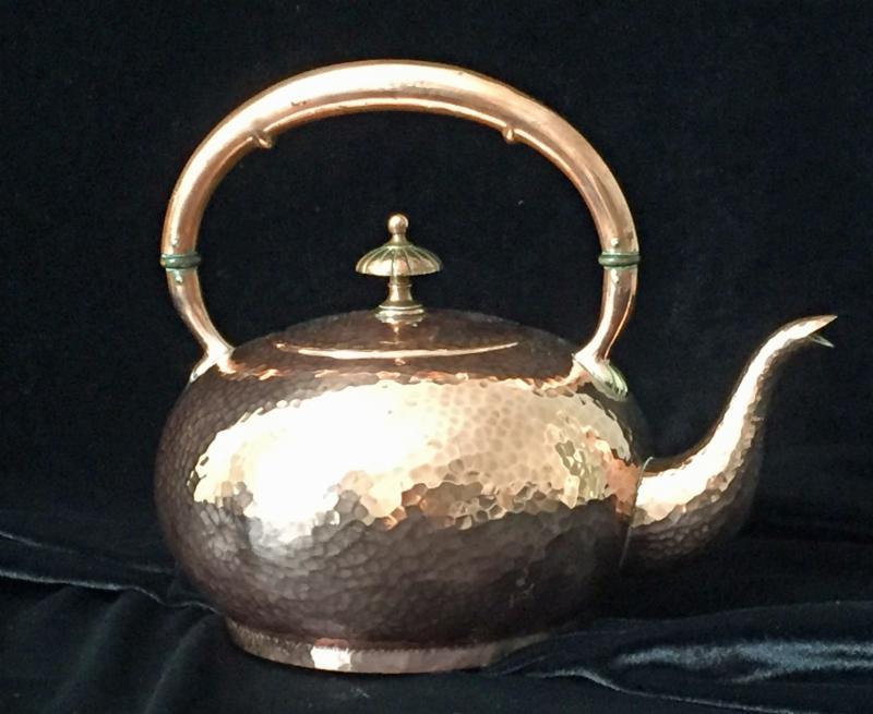 Art Nouveau Copper Teapot