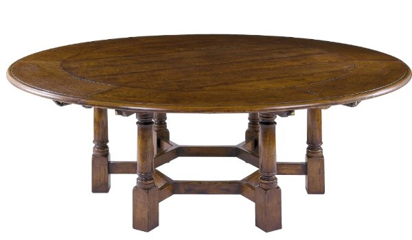 Country Dining Table with Crescent Leaves