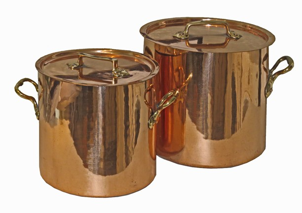 French Copper Stock Pots