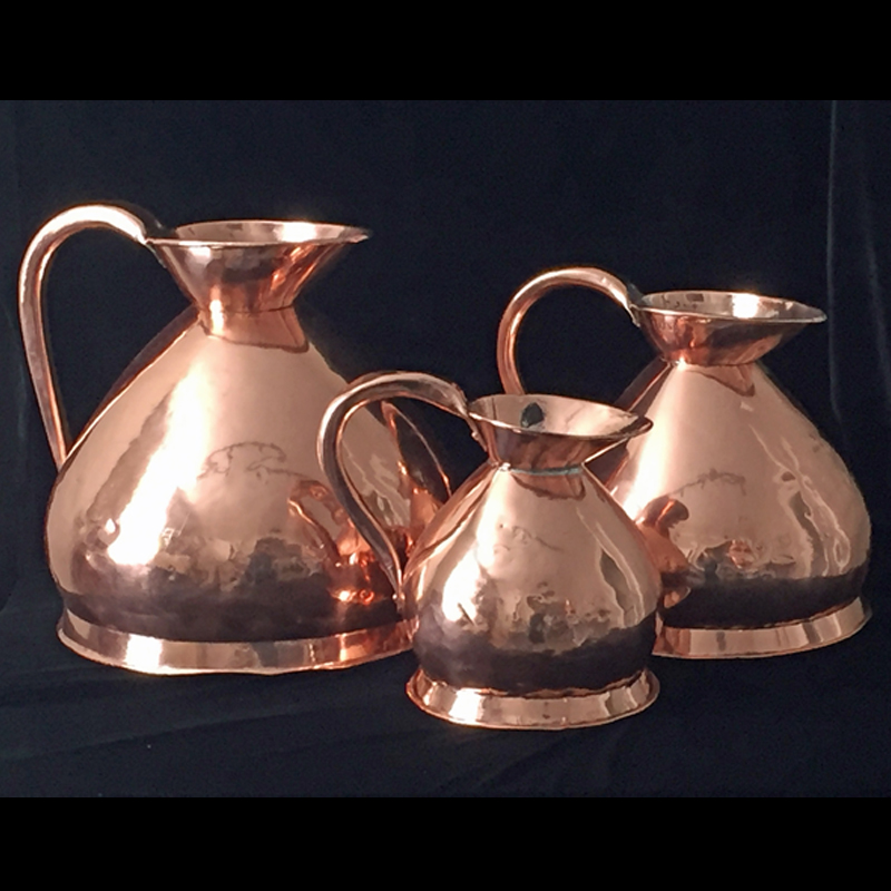 Set of 3 Copper Measures
