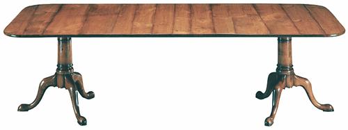 Custom-Made Burl Walnut Dining Table
