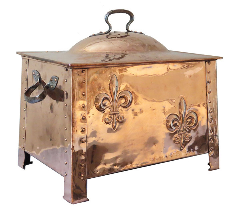 Art Nouveau Copper Coal/Log or Kindling Bin
