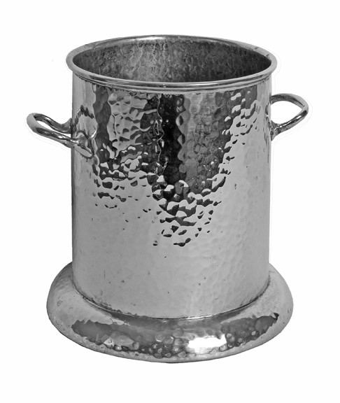 English Hammered Silver Plate Art Deco Wine Bucket