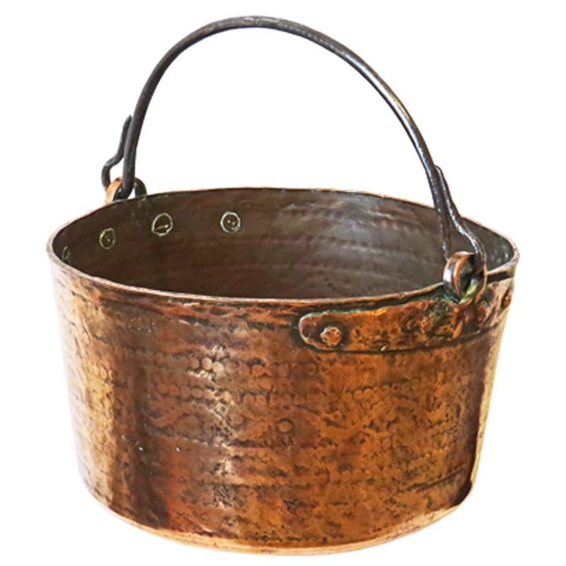 Hammered Copper Log Bin