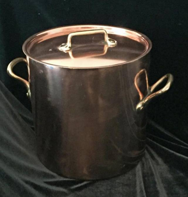English Dovetailed Copper Stockpot