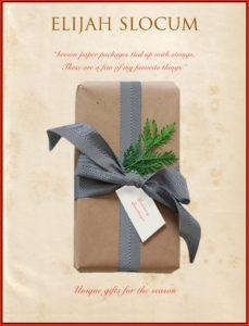 Elijah Slocum Holiday Catalog 2020